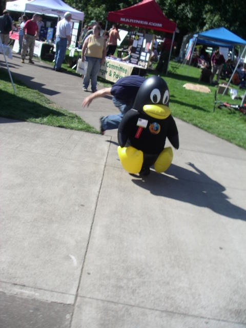 tux getting tackled
